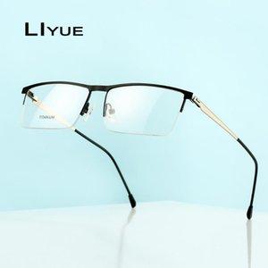 2020 Men Optical Glasses Frame eyeglasses Transparent Prescription Myopia Computer eye glass Metal half Screwless Eyewear frames