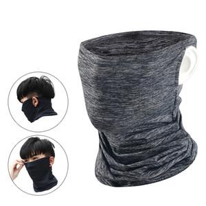 Einen.Kreislauf.durchmachenschal halbe Gesichtsmaske Kühle Eis-Seide Kopftuch Outdoor Sport Earloop Schal Multifunktions-Breathable Fahrrad Anti-UV-Neck Bandana