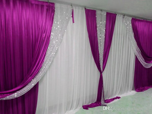 3M*6M backdrop with sequins swags wedding backcloth With sequins Swags party curtain Wedding Party Background with sequin swags