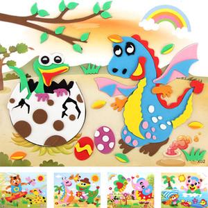 Happyxuan 20 diseños / lote 21 * 26 cm Gran Eva Foam Sticker Craft Cartoon Animal Educativo Rompecabezas Kits Kindergarten Niños SH190911