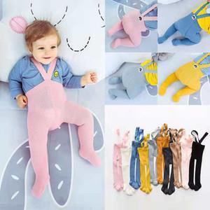 Strap Baby Baby Cotton Collant Calze Neonato pantaloni a vita alta calzini Croce cinghia delle ghette delle ragazze dei ragazzi Proteggere Navel pantaloni per 0-3 anni M731