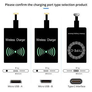 Qi cargador de carga inalámbrica Módulo Receptor Etiqueta adaptador de carga para Samsung Android universal