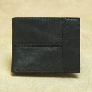 Men RFID Blocking Short Fold Over Cowhide Wallet Genuine Leather Purses Card Slots Interior Zipper Pocket Coin Pouches Banknote Pockets
