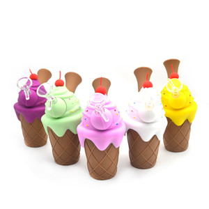Мороженая модель мини-барботажные трубы силиконовых курений Водопроводных трубы многоцветности силиконового масла станки затяжек Кальяны Glass Bowl