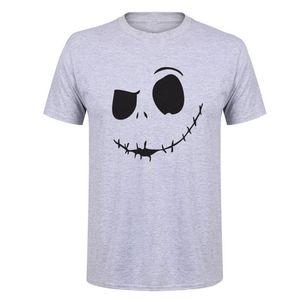 cauchemar Showtly avant bande dessinée de Noël Jack Skellington hommes T-shirt Grimace New Halloween Hip Hop Streetwear T-shirt