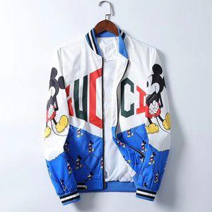2019 hip hop Brand Medusa Italian Jacket Men's Super Quality Jacket Men's Casual Print Letters Pattern Free Shipping #01