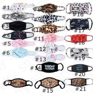 21 cores máscara facial ultravioleta-prova contra pó do respirador Equitação Ciclismo Sports reutilização Boca Máscara de cobertura para as Mulheres Homens D4806