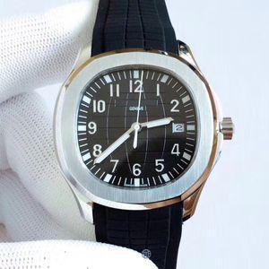 Novos Esportes U1 Fábrica Mens Relógio Aquanaut 2813 Movimento Automático Relógios de Aço Inoxidável Caso Preto Discagem 5711 Mens relógios de pulso