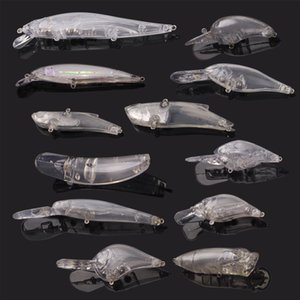 New Arrivals Blank Crankbait Unpainted Fishing Lures Bait Fishing Lure Minnow Wobblers with Eyes Gift 24pcs Lot