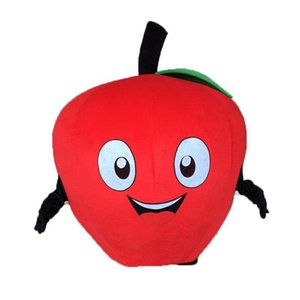 2019Discount factory vendita PROFESSIONAL Apple rosso costume della mascotte del fumetto della mascotte del fumetto Fancy Halloween Dress Dress spedizione gratuita