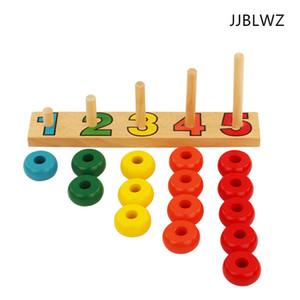 I nuovi dischi di conteggio giocattolo del giocattolo del bambino Montessori di legno Regali Stacking Ordinamento pannelli da costruzione educazione della prima infanzia per bambini prescolare