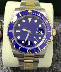 Mens Top-Qualität heiße verkaufende Fabrik-Lieferanten 40mm 116613LB BLUE Keramik Gold STEEL UNGETRAGEN VERBINDLICH Edelstahl Armband Armbanduhr