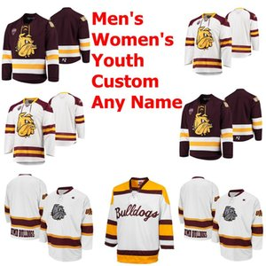 Minnesota Duluth Bulldogs College Hockey Jerseys Mens Jackson Cates Justin Richards Jesse Jacques Cole Koepke Laderoute Custom Stitched