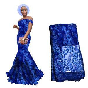 Neue Ankunfts-Qualitäts-afrikanische Schnur-Spitze-Gewebe-Schweizer Voile gesticktes Guipure-Gewebe für 2020 Hochzeitskleid