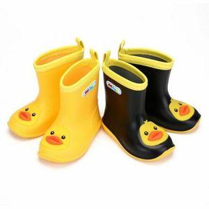 Wasserdichte Stiefel Wellies Wasser Regen PVC Anti-Rutsch-Stiefel Kinder Jungen Mädchen Kinder der Karikatur-3D Four Seasons Regen Schuhe EUR Größe 24-31