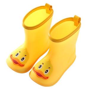 Rain Boots Дети для мальчиков девочек Симпатичные ботинки Резиновая Водонепроницаемый Детские Нескользящие резиновые ботинки воды Дети Резиновая All Seasons Y200104