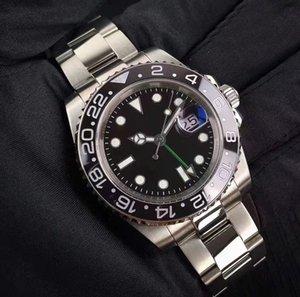 Nuovo orologio in acciaio Sport Automatico 2813 Moda Data meccanica Cintura maschile Guardare in ceramica Anello in ceramica Immersioni Impermeabile Bocca 40mm DTPVS