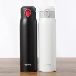Vacío original Xiaomi Youpin VIOMI 300ML acero inoxidable Thermose de doble pared con aislamiento Botella de Agua Potable de la botella de bebida Copa - negro 3