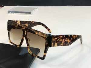 40030 diseñador de las mujeres gafas de sol de las gafas Wrap Audrey protección UV diseñador unisex Modelo Marco grande del marco del leopardo del color del doble