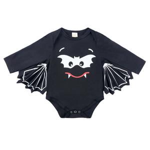 아기 박쥐 코스프레 Onesie의 2PC 세트 박쥐 귀 레이스 업 모자 + 박쥐 날개 장난 꾸러기 유아 소년 소녀 할로윈 코스프레 의상