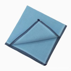 12pcs 43 * Handkerchief Fresh Fresh Men's Color Light 43cm Textura Handkerchief Cotton Square Hlnuh