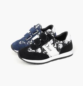 Детская обувь Спорт Флис Осень Зима Мода Дышащие Детские Мальчики Обувь Девушки Anti-Скользкий Кроссовки Детские Малыш обувь