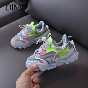 DIMI High Quality Children Shoes Autumn New Boys Girls Casual Shoes Fashion Colorblock Trend Breathable Non-slip Kids Sneakers