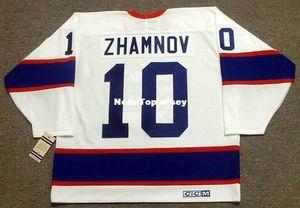 Maglie personalizzate da uomo # 10 ALEX ZHAMNOV Winnipeg Jets 1993 CCM Vintage Home economici Retro Hockey Jersey