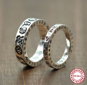 Bijoux bague en argent sterling 925 pour créer une bague personnalisée Forever Couple thaïlandaise rétro style ancien unique à envoyer un cadeau