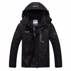 Plus la taille veste d'hiver hommes chaud Parka Casual hommes coupe-vent imperméable neige vestes polaire velours manteaux à capuchon