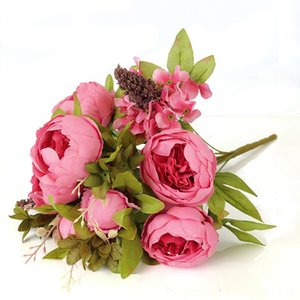 50cm Rose Pink Silk Peony Artificial Flowers Bouquet 13 Big Head Bud Cheap Other Festive & Party Supplies Festive & Party Supplies Fake Flow
