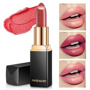 9 colores Sirena Ji brillante lápices labiales metálicos Pearlesscent Color Cambiar Lápiz labial Lipstick Lip Gloss Free Ship 3pcs