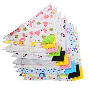 Baby Printed Saliva Handtuch Infant Baumwolldreieck Saliva Handtücher Kinder beiläufige Kleidung-Jungen-Mädchen-Silikon-Molar Lätzchen Schal Doppel-Snap 060304