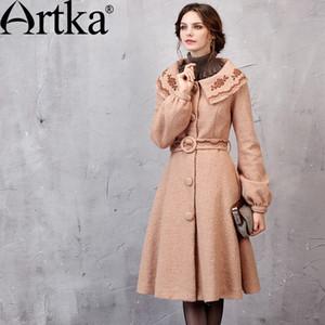 Chaqueta de otoño ARTKA para mujer Chaqueta de otoño 2018 Abrigo cálido de invierno con cinturón Chaqueta cortavientos elegante para mujer WA11055Q