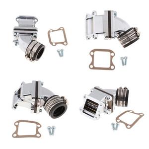 4x Intake Manifold Intake Manifold Adapter For Carburetor, Suitable For Yamaha JOG50, Silver