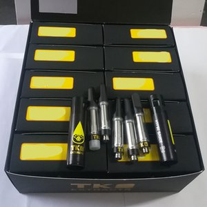 TKO Extraits Sauce Vape Cartouches Emballage 0.8ml Bobine en céramique Vape Vape Stylo Cartouches épais Huile mat Mat Tip 510 Atomisateur à fil