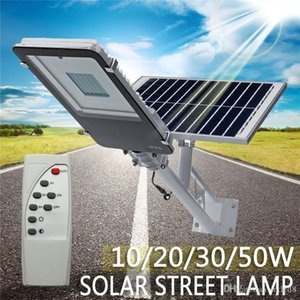 10 20 30 50W Outdoor Waterproof LED Solar Powered Wall Street Path Light Flood Lamp For Garden Yard 3 Working Modes