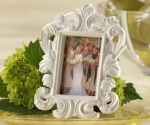 화이트 바로크 사진 프레임 결혼식 장소 카드 홀더 그림 프레임
