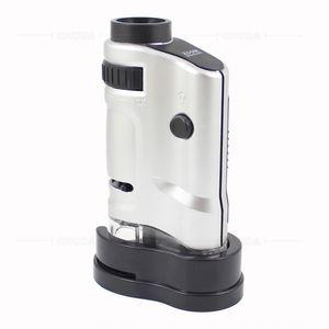 tOCJ3 Chuda regarde spécialement à thé noir Anhua magnifier microscope led poche en verre 20-40 fois peut téléphone thé noir mob phoneadjust mobile
