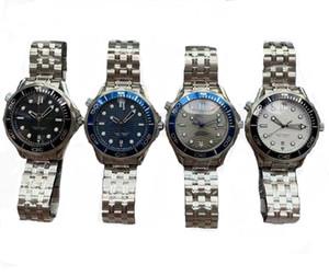 I più nuovi Mens di lusso orologi 300m professionale James Bond007 Grey 4 colori quadrante relojes Movimento automatico Guarda completo in acciaio da uomo Orologi da polso
