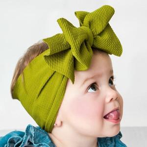 Bébé Grand Arc Filles Bandeau 7 Pouce Grand Bowknot Headwrap Enfants Arc pour Cheveux Coton Large Tête Turban Infant Nouveau-Né Bandeaux EEA507