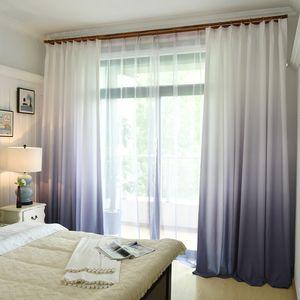 1 unids degradado de color cortina de ventana para sala de estar dormitorio cocina decoración cortinas y cortinas opacas para la tasa de sombreado de la ventana 70%