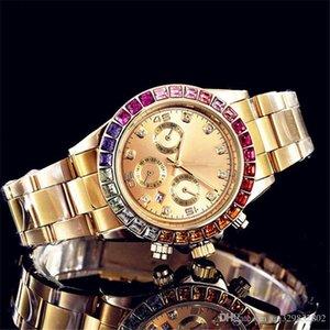 Reloj Mens Watch Day Black Men 자동 골드 날짜 패션 전체 브랜드 다이아몬드 럭셔리 손목 시계 Hombre Watches 디자이너 새로운 태그 쿼츠 Chco