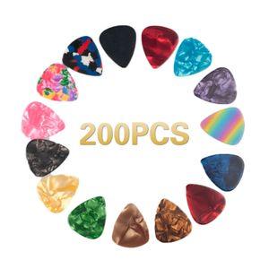 NAOMI Guitar Picks 200PCS Guitar Picks Guitar Accessories Different Size Musical Instrument Accessories