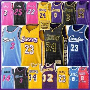 LeBron James 23 6 Basketball Jersey Bryant Dwyane Wade 3 Jimmy Butler Anthony Kyle Davis Kuzma Tyler Earvin Herro Nunn Johnson O'Neal 22 14