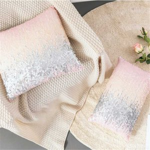 Silver Pink Sequin Pillow Cushion Cover Home Decorative Pillows for Sofa Seat Living Room Throw Pillow Covers 45*45 Nordic Cover