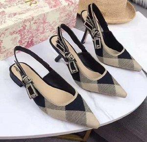 New Fashoin Woman Shoe heels Ladies Flat Female Trend Classics Designer Shoes Elegant Rhinestone Pionted Toes Dress Shoes bag05 DI01