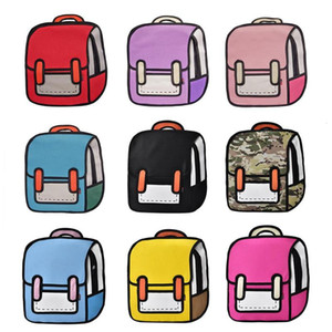 Mode 3D Cartoon Rucksäcke Nette Mama Taschen 2D Zeichnung Zurück Tasche Frauen Rucksack Jump Style Comic Unisex Reise Babypflege Tasche