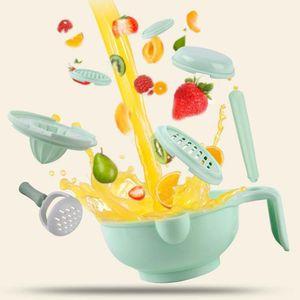 Manual infantil del bebé triturar la comida Cuenco de verduras Frutas amoladora manual de Alimentación Infantil Suplemento precio asequible Reino Unido wwXuG