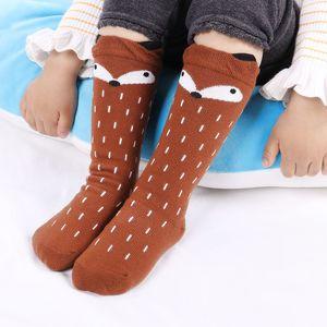 Envío gratis Baby Girls Leg Warmer Fox Cotton Cute Little Character Calcetines hasta la rodilla Ropa para niños Unisex Toddler Boot Socks Cartoon